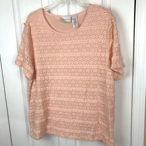 Alfred Dunner Lace Blouse
